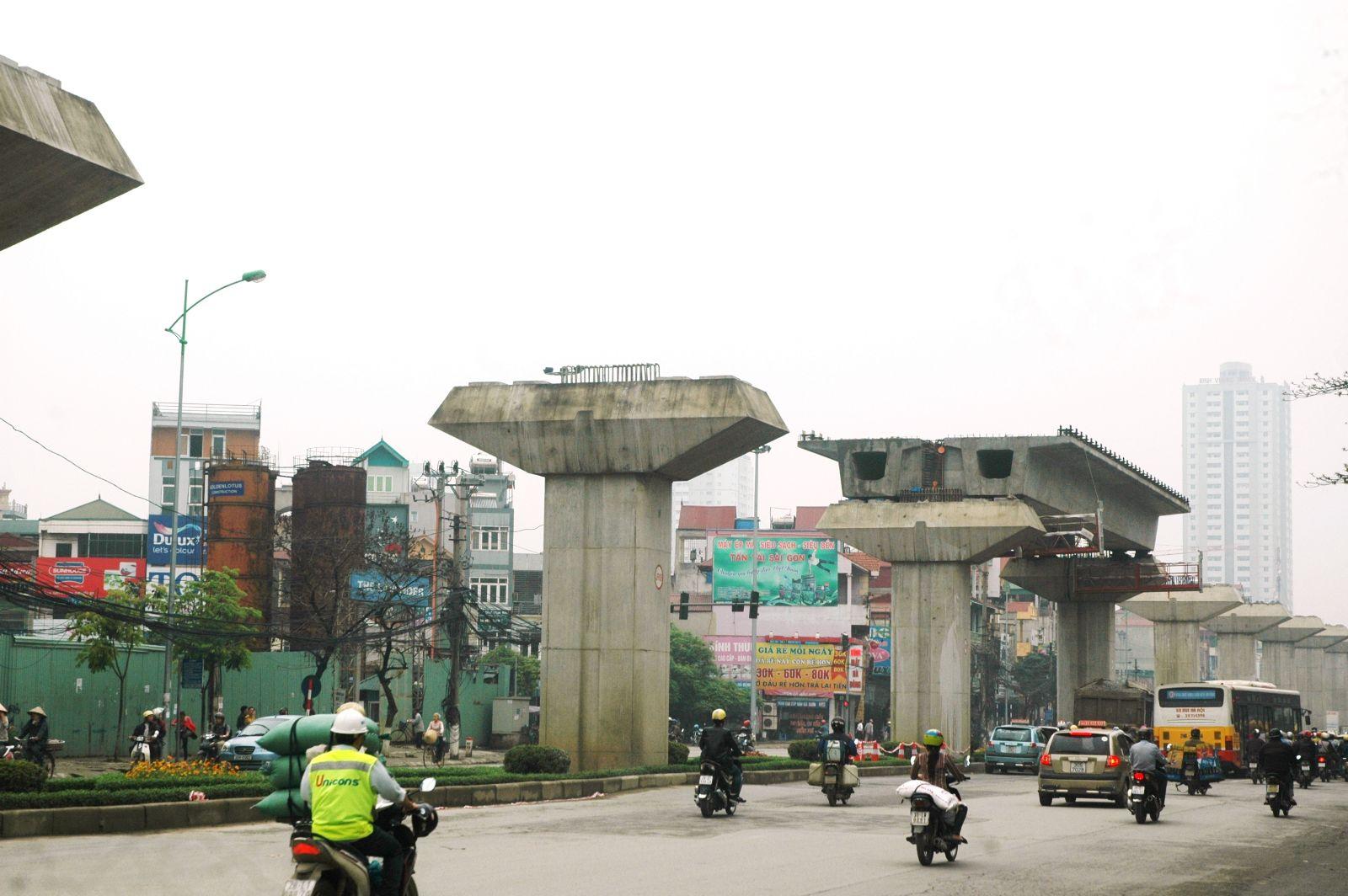 Những hình ảnh đầu tiên lao dầm đường sắt đô thị Hà Đông - Cát Linh 5