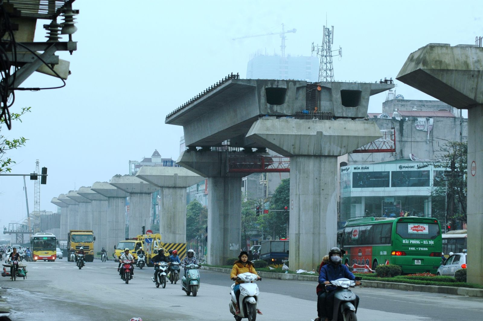 Những hình ảnh đầu tiên lao dầm đường sắt đô thị Hà Đông - Cát Linh 7