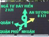 Người Sài Gòn tránh kẹt xe nhờ bảng báo điện tử
