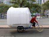 Dựng căn hộ… trên xe đạp ba bánh