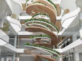 """""""Cầu thang sống"""", hay vườn cây xoắn ốc trong nhà của Paul Cocksedge"""